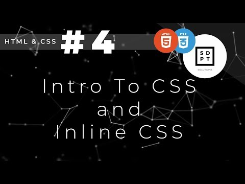 HTML And CSS Tutorial #4: Intro To CSS And Inline CSS | Filipino | Tagalog