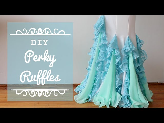Perky Ruffles DIY - Flounce Ruffles with fishing line for more professional looking costumes!
