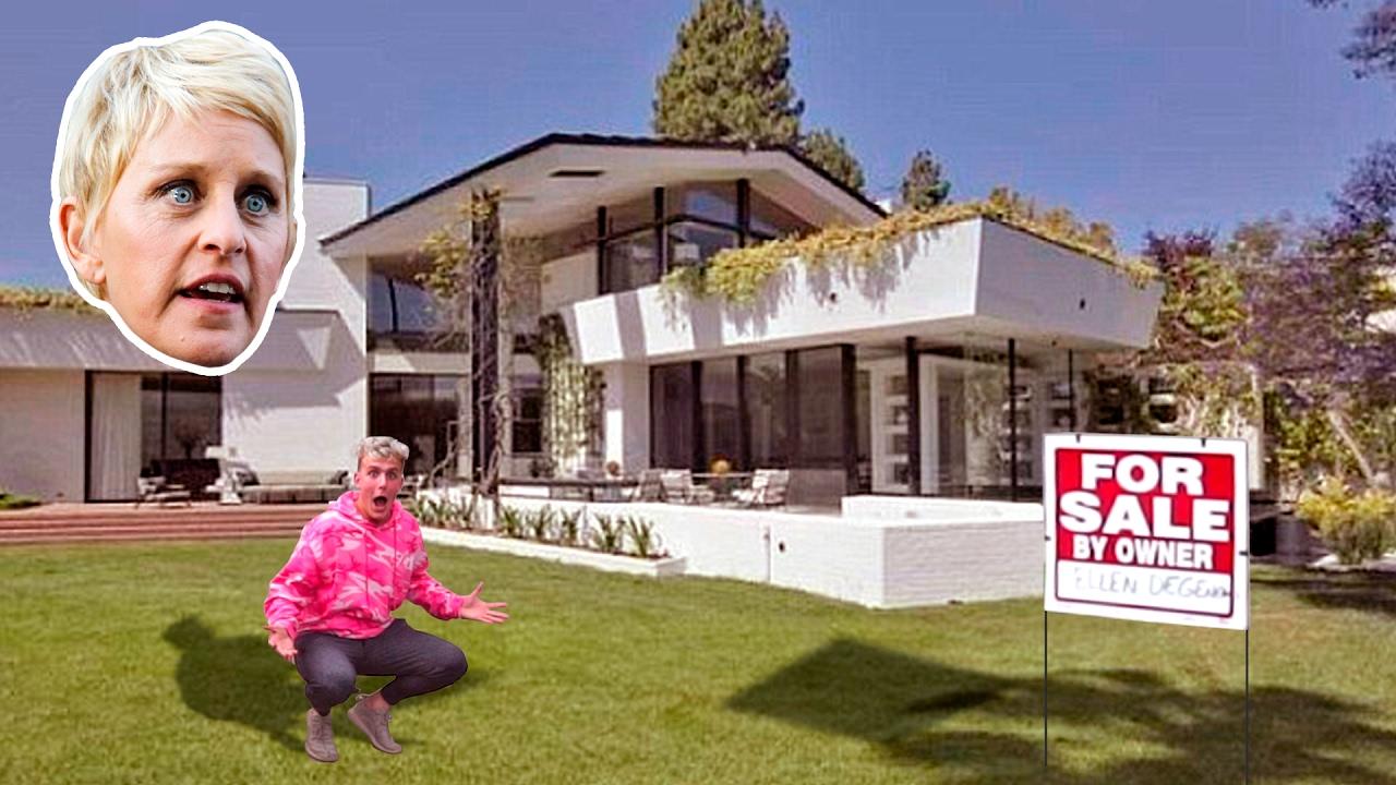 I PUT ELLEN DEGENERES HOUSE UP FOR SALE (PRANK) - YouTube
