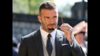 David Beckham, o el invitado que robó todo el protagonismo en la boda de Harry y Meghan