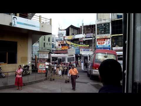 The bus station in Kurunegala