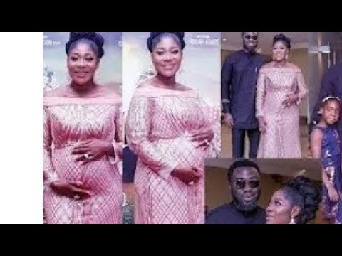Mercy Johnson and her family at movie premiere