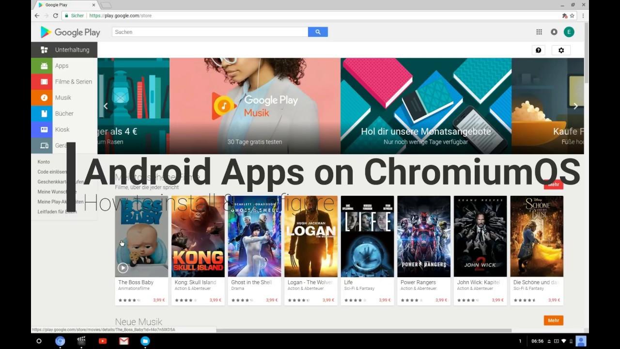 Ausführen von Android-Apps auf Chromium OS (über Neverware CloudReady)