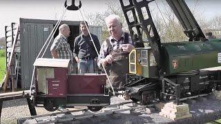 Schienen-Dampf-Kran ARDELT (90t) mit Hilfswagen beim Expertentreffen des DBCA 2017