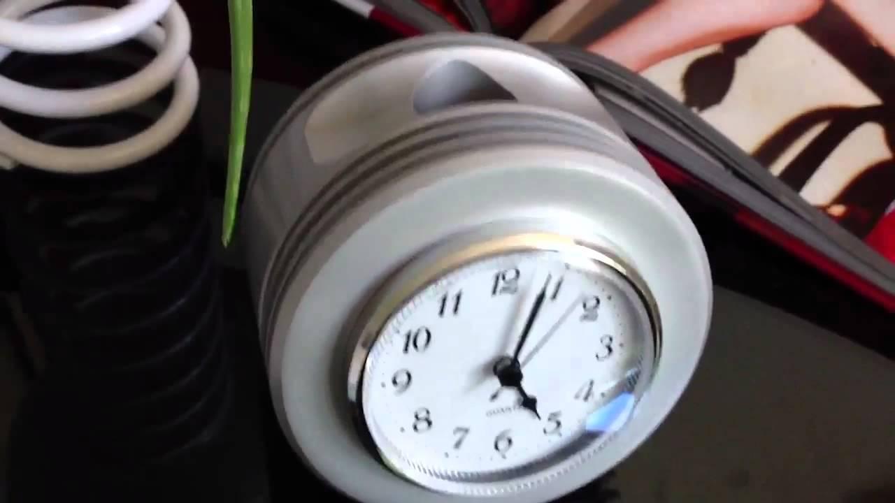 WWII Radial Engine Piston Metallic Desk Clock