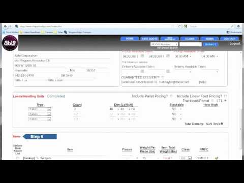 ShippersEdge TMS Shipping & Logistics Software - Shipment Tendering (Old Version)