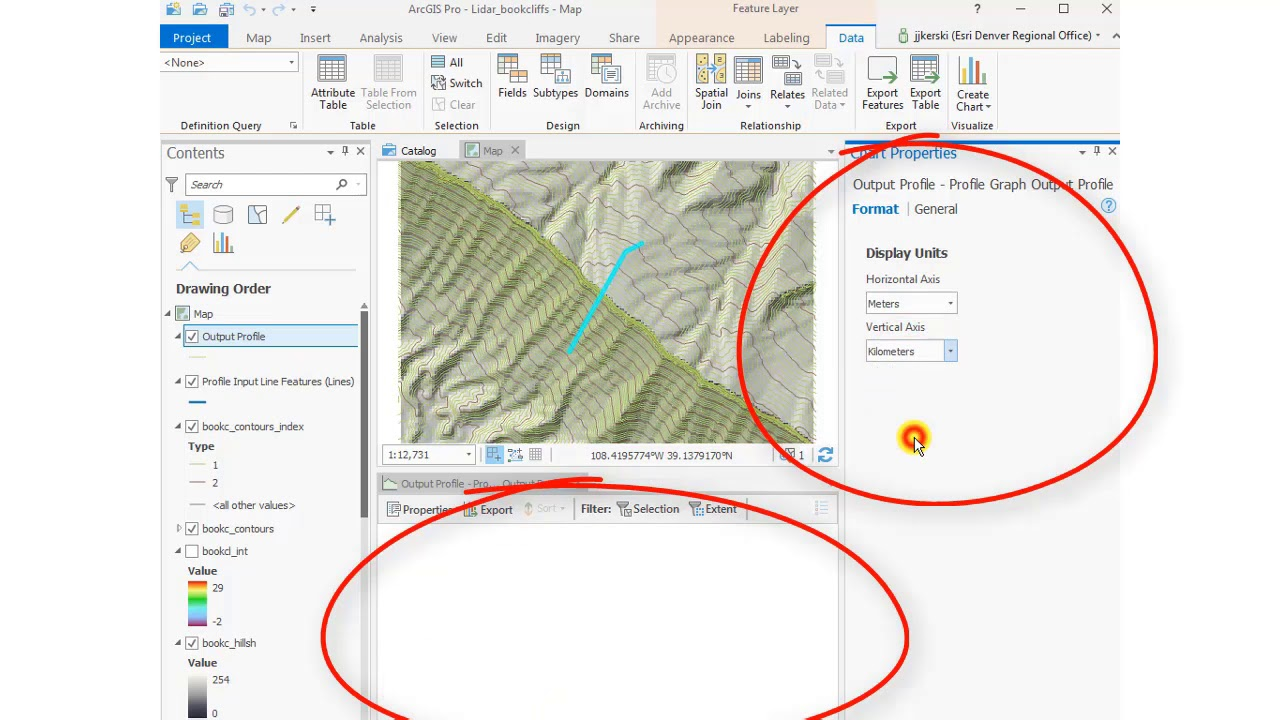 How to create a surface profile in ArcGIS Pro