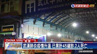 武漢肺炎45確診.2死 專家估當地已1700人感染-民視新聞