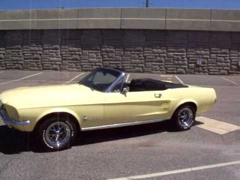 1967 Ford Mustang Convertible Springtime Yellow Start Up