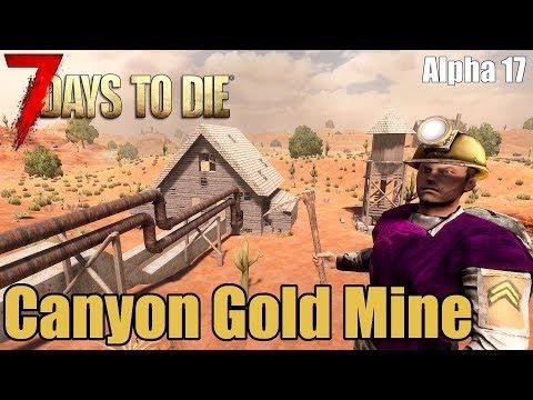 7 Days To Die - Secret Canyon Gold Mine - Hidden Gold Mine Location (Alpha 17)