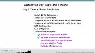 day 2 cucm cuc im and uccx cluster installations installation day overview