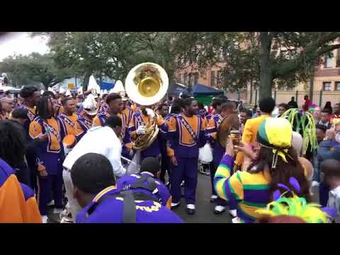 Jon Baptiste jamming with Alcorn State during Endymion