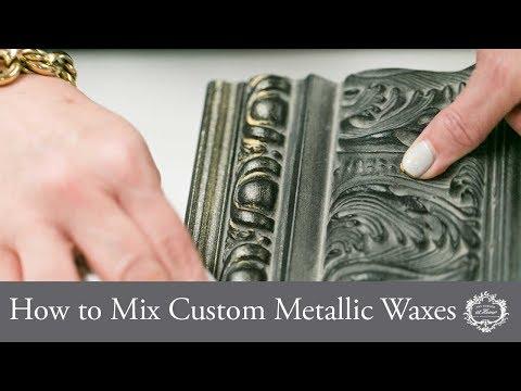How To Mix Custom Metallic Waxes
