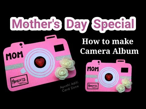Unique Instax Card Tutorial   Handmade Birthday Gifts   DIY Scrapbook   Mother's Day Card  