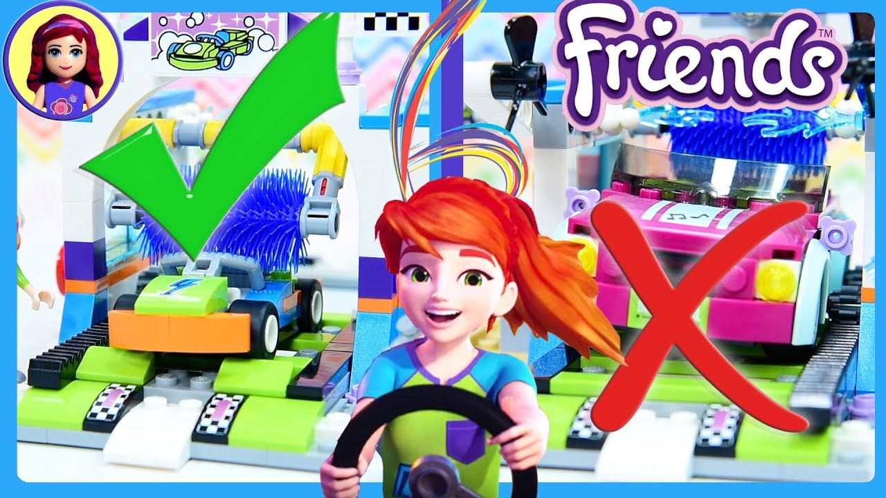 Lego Friends Spinning Brushes Car Wash Build Review Silly Play Kids