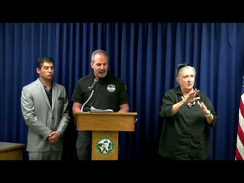 Santa Barbara County emergency officials hold press conference on upcoming storm