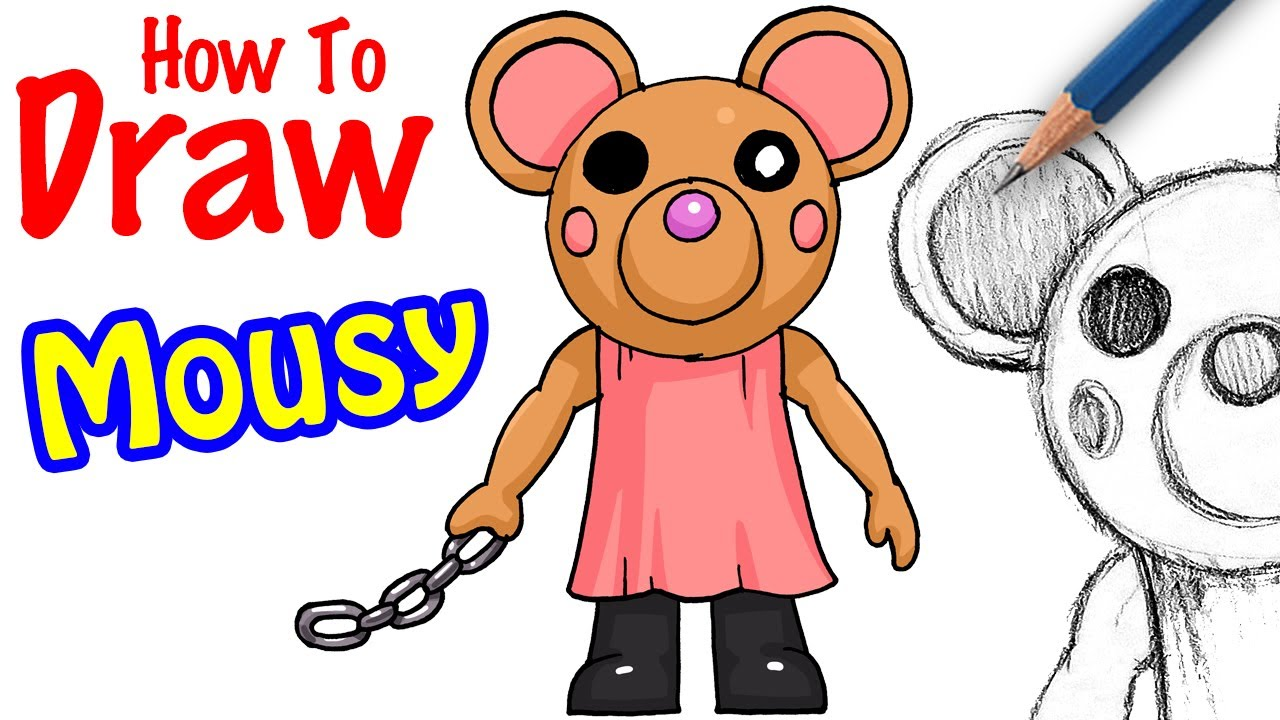 How To Draw Mousy Roblox Piggy Youtube