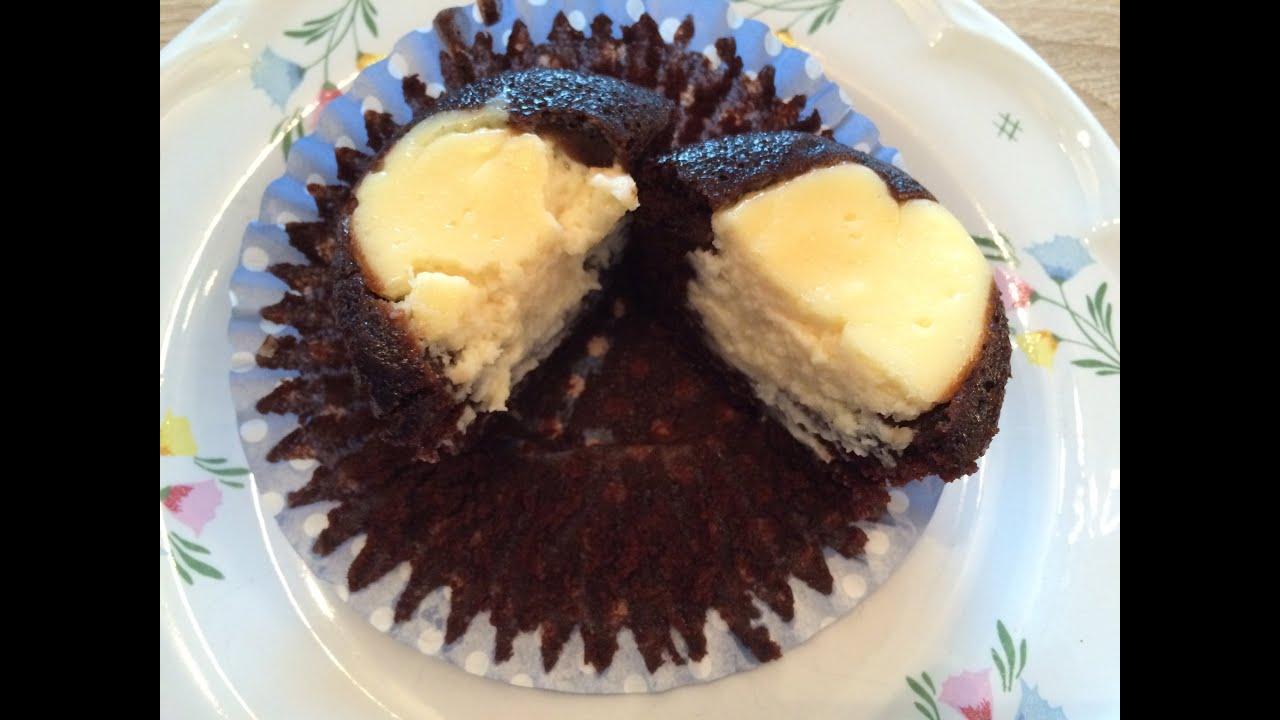 Schoko Käse / Black Bottom Muffins wie bei Starbucks Rezept - YouTube
