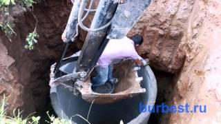видео Выгребная яма из бетонных колец