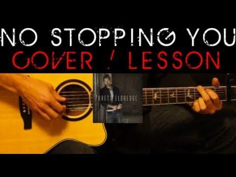 NO STOPPING YOU - Brett Eldredge Cover 🎸 Easy Acoustic Guitar Tutorial / Lesson + Lyrics Chords Tabs