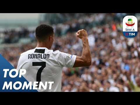 Ronaldo Opens His Account With A Double | Top Moment |Serie A
