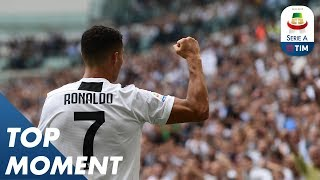 Ronaldo Opens His Account With A Double | Top Moment |  Serie A