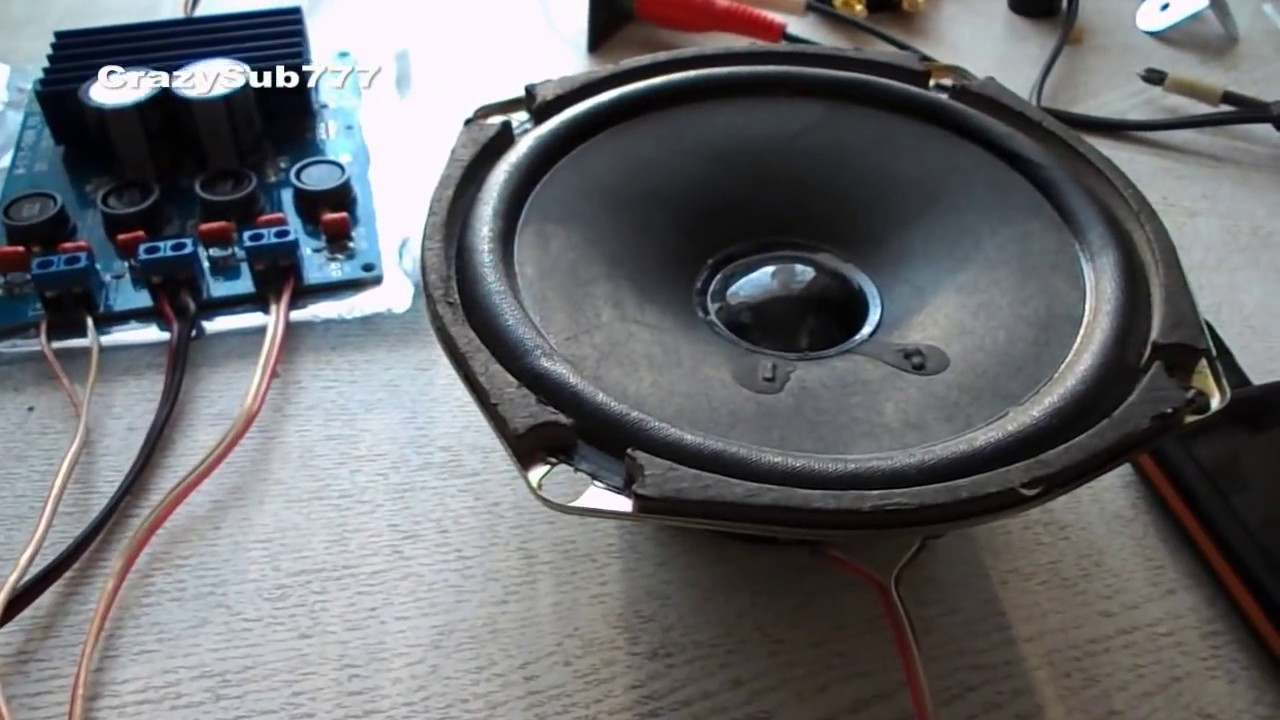 Amplifier Class D Tda7498 Test Youtube Stereo Power 4w 8w With Tda2005