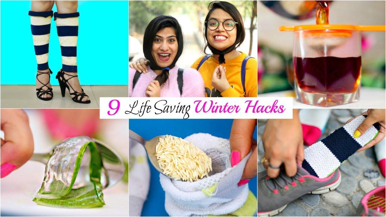 9 LIFE Saving WINTER HACKS You MUST TRY   #BeautyHacks #Fun #Anaysa