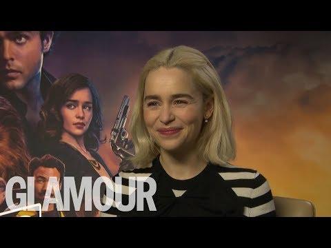 Emilia Clarke: Who's The Best Kisser, John Snow or Hans Solo? | GLAMOUR UK