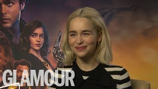 Emilia Clarke: Who's The Best Kisser, John Snow or Han Solo? | GLAMOUR UK