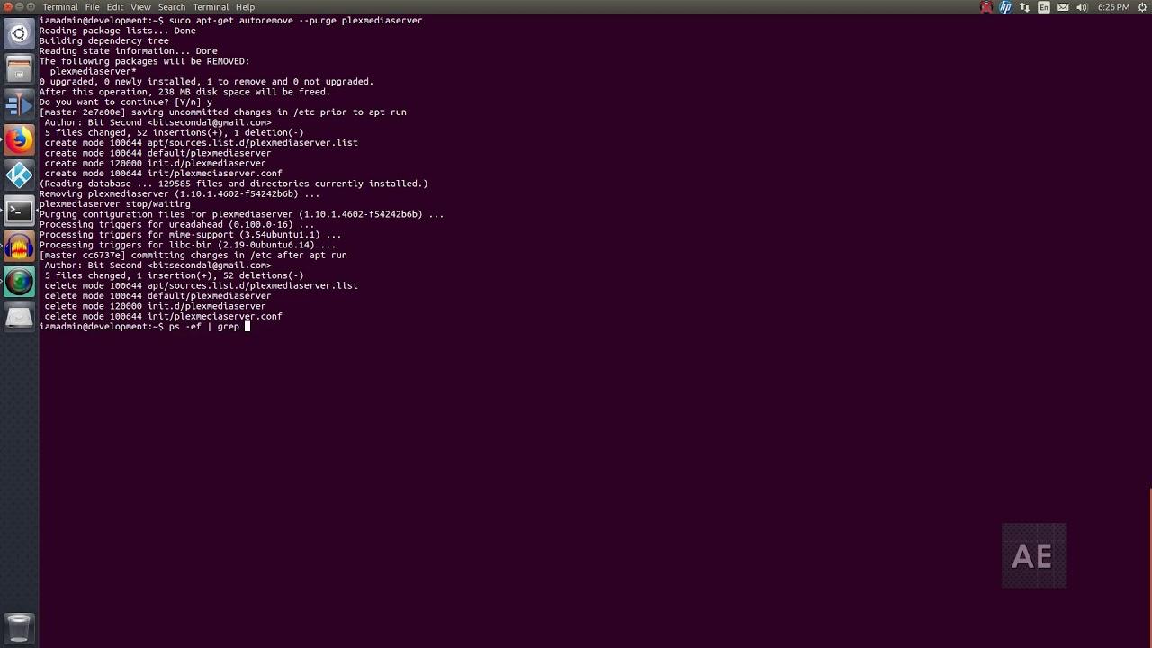 Uninstall Plex Media Server from Ubuntu 16 04