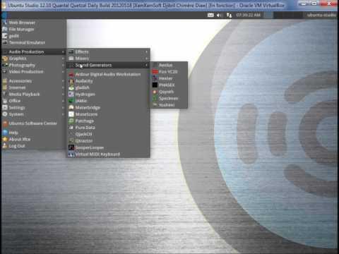 Ubuntu Studio 12.10 Quantal Quetzal Daily Build 20120518 Presentation