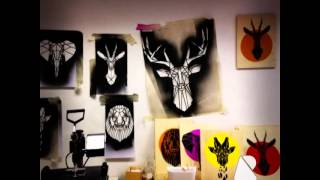 Stencil Design And Stencil Art By Stencilize. Geometric Animal Designs.