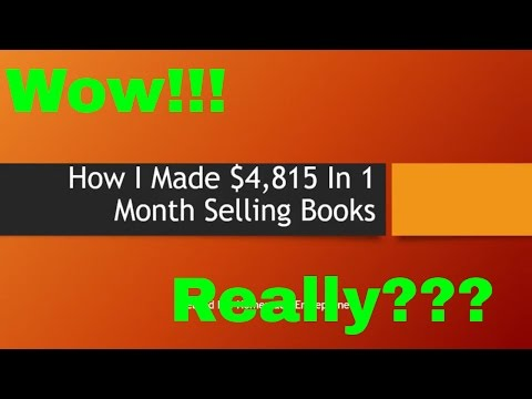 How I Made $4,815 Selling Books On Amazon