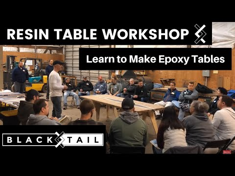 Resin Table Workshop—Learn to Make Epoxy Tables—How To Woodworking