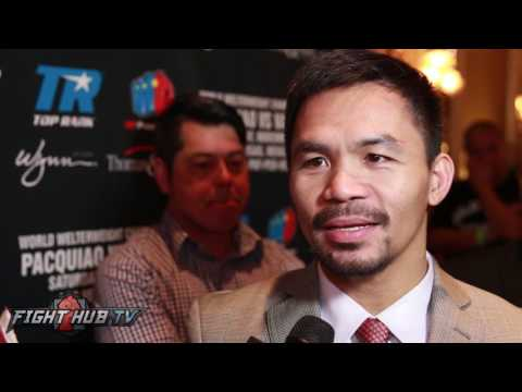 Thumbnail: Manny Pacquiao laughs at Floyd Mayweather wanting to fight Conor McGregor