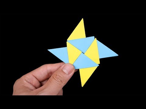 Easy Origami Paper Ninja star 4 points - How to Make Ninja star Step by Step