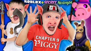 ROBLOX PIGGY: The DOUBLE ESCAPE of Elephant Pig + Secret Hello Neighbor (FGTeeV Ch 9 Gameplay/Skit)