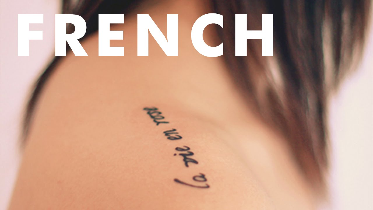 Inspiring Little French Tattoos Youtube