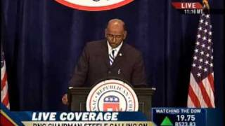 "Michael Steele ""Obama Is Bankrupting Our Country"""