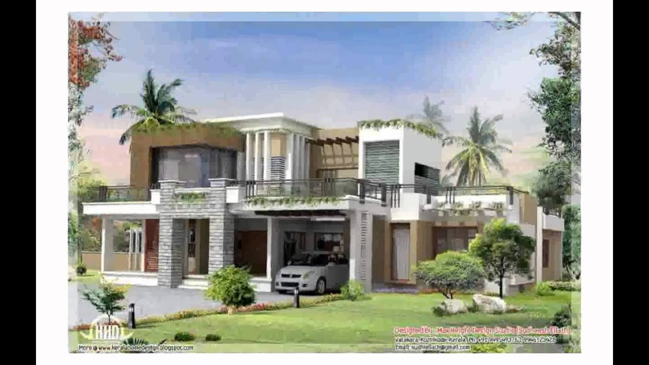 Modern contemporary house design youtube for Modern house plans with photos