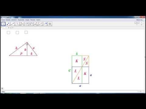 geogebra ile dik üçgende öklid bağıntılarının ispatı 3
