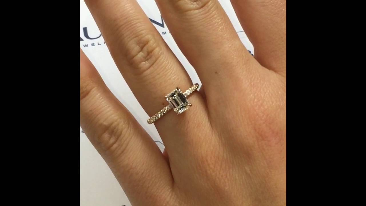 product ring platinum engagement diamond emerald cut zaltas
