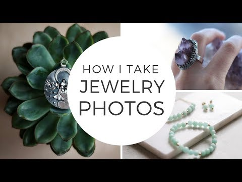JEWELRY PHOTOGRAPHY - How I Take Jewelry Photos At Home. Product Photography For Etsy