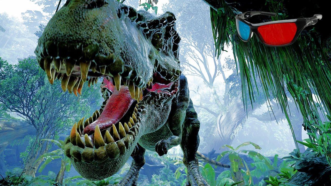 3d Hologram Hd Wallpaper Dinosaur 3d Anaglyph 3d Jurassic Park Simulation Hd 3d