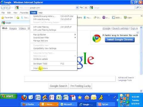 how to set auto fill option in internet explorer