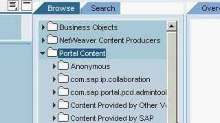 SAP NetWeaver Portal folder creation