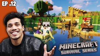 Best Way To Transport Villagers 😍  | Minecraft Survival Series Episode 12