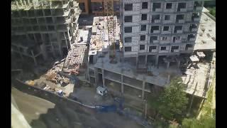 Строительство домов II очереди Квартала Европейский за июнь 2018г. (камера 2)