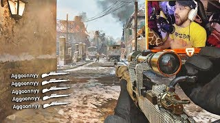 I HIT A BANGER!! (INSANE COD WW2 Sniping Gameplay & Epic Moments)
